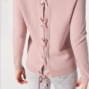 lululemon // misty pink tied to you sweater